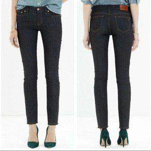 Madewell Alley Straight Mid Rise Dark Wash Jeans